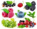 Set fresh berries healthy food fruit