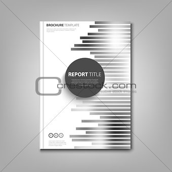 Brochures book or flyer with abstract black white strips