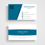 Business card with design blue white stripes template