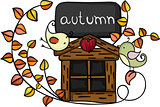 Design element autumn birds