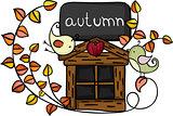 Design element autumn birds