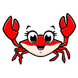 Cartoon Cute Crab