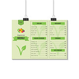 Template design vegetarian food menu.