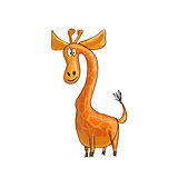 Funny cartoon giraffe
