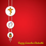 Ganesha chaturthi utsav greeting card