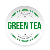 Green Tea label sign