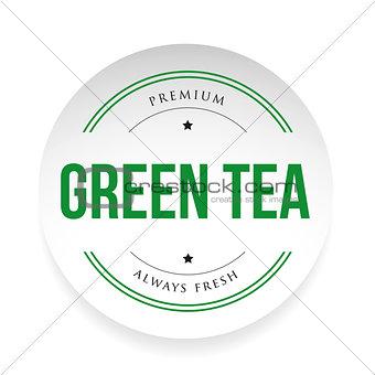 Green Tea label sign