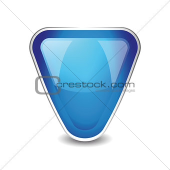 Abstract shield object vector blue