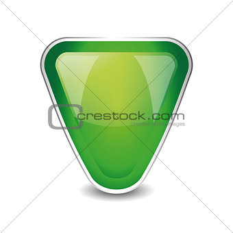 Abstract shield object vector green