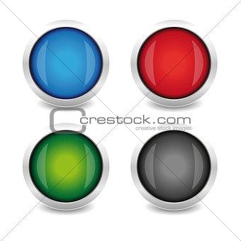 Abstract circle shapes set