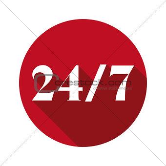 24 7 assistance icom sign