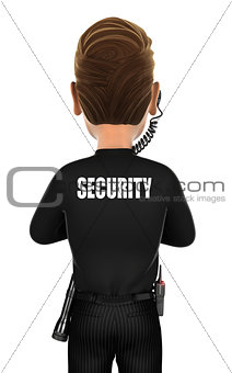 3d security agent back
