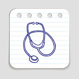Doodle stethoscope icon