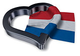 dutch flag and heart symbol - 3d rendering