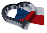flag of the czech republic and heart symbol - 3d rendering