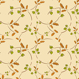 Seamless pattern with leaf, abstract leaf texture, endless background.
