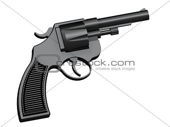 3D image of classic revolver