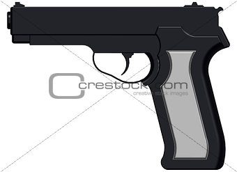 3D image of handgun