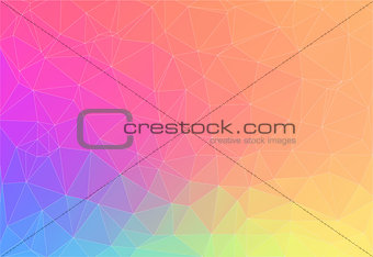 Abstract bright color Triangle Background