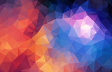Flat retro color geometric triangle wallpaper