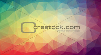Abstract multicolor background with gradient triangle shapes