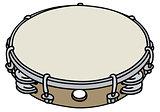 Small wooden tambourine