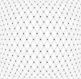 Mesh diamonds 3D pattern.
