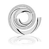 Spiral design element.