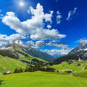 Alpine sunshiny view (Vorarlberg,Austria)