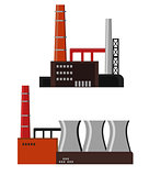 Industrial factory buildings icon