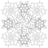Coloring book page for adults and kids in doodle style.