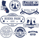 generic stamps and signs of Buena Park, CA