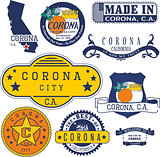 generic stamps and signs of Corona, CA