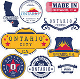 generic stamps and signs of Ontario, CA