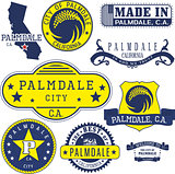generic stamps and signs of Palmdale, CA