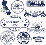 generic stamps and signs of San Ramon city, CA