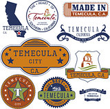 generic stamps and signs of Temecula city, CA