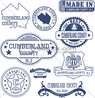 Cumberland county, NJ, generic stamps and signs