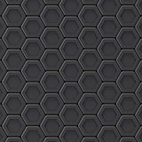 Black abstract hexagonal background. 3D