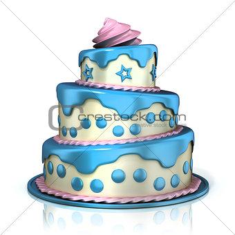 Three floor cake 3D