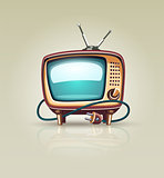 Vintage retro tv set icon