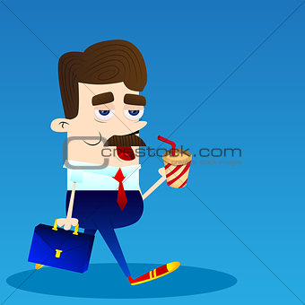 Business Office Employee Busy At Work