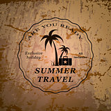 Summer travel emblem