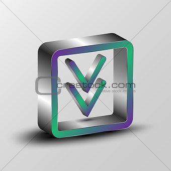 3d illustration of a download symbol