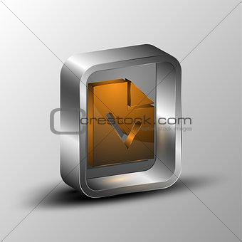 3d illustration of document symbol