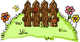 Farm fence illustration