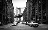 Manhattan Bridge, view from Washington street in Brooklyn