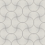 Vector Seamless Rounded Lines Pattern. Abstract Geometric Background Design. Circular Geometric Tiling Lattice