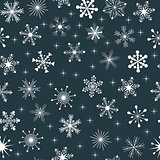 vector seamless snowflakes pattern