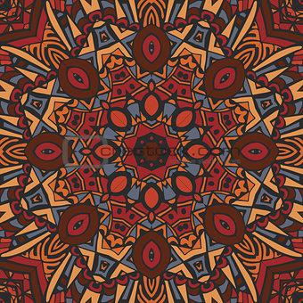 Abstract Tribal ethnic mandala round ornament